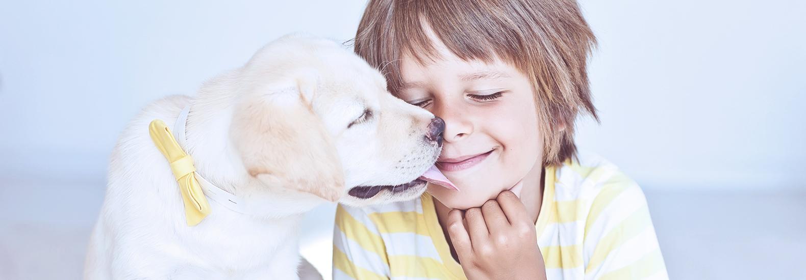 La maravillosa influencia de las mascotas en niños de entre 0 y 7 años