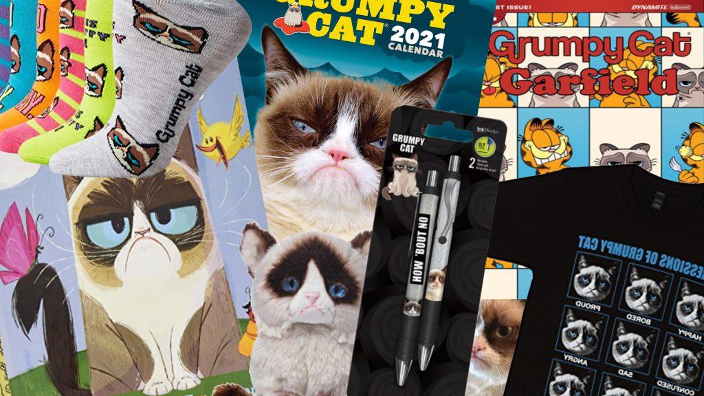 Imagen ilustración merchandising grumpy cat